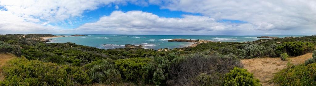 Panoramablick über die Küste des Coorong Nationalparks, Australien